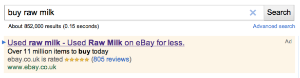 Buy raw milk on google - eBay Ad - Used Raw Milk - Used Raw Milk on eBay for less